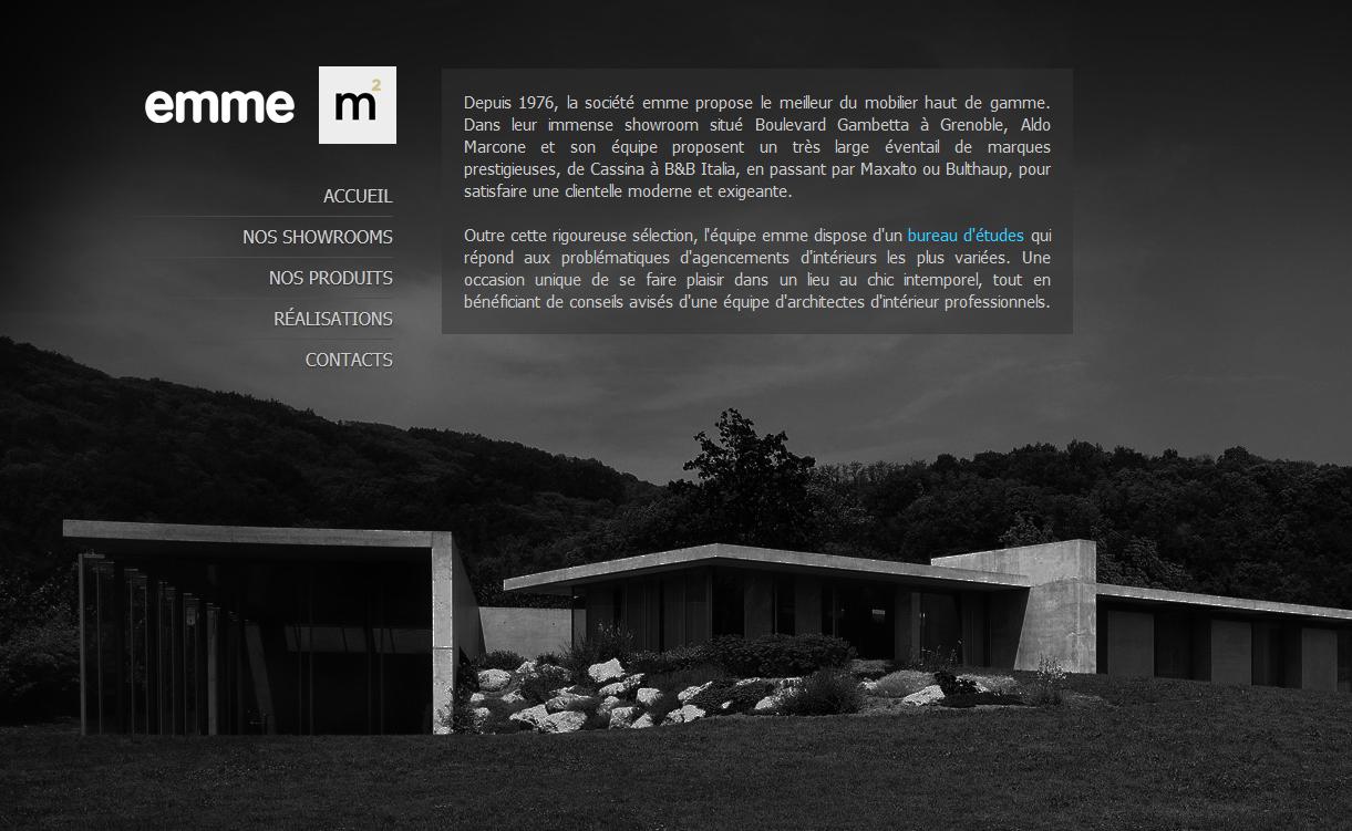 réalisation du site de Emme M2 2011