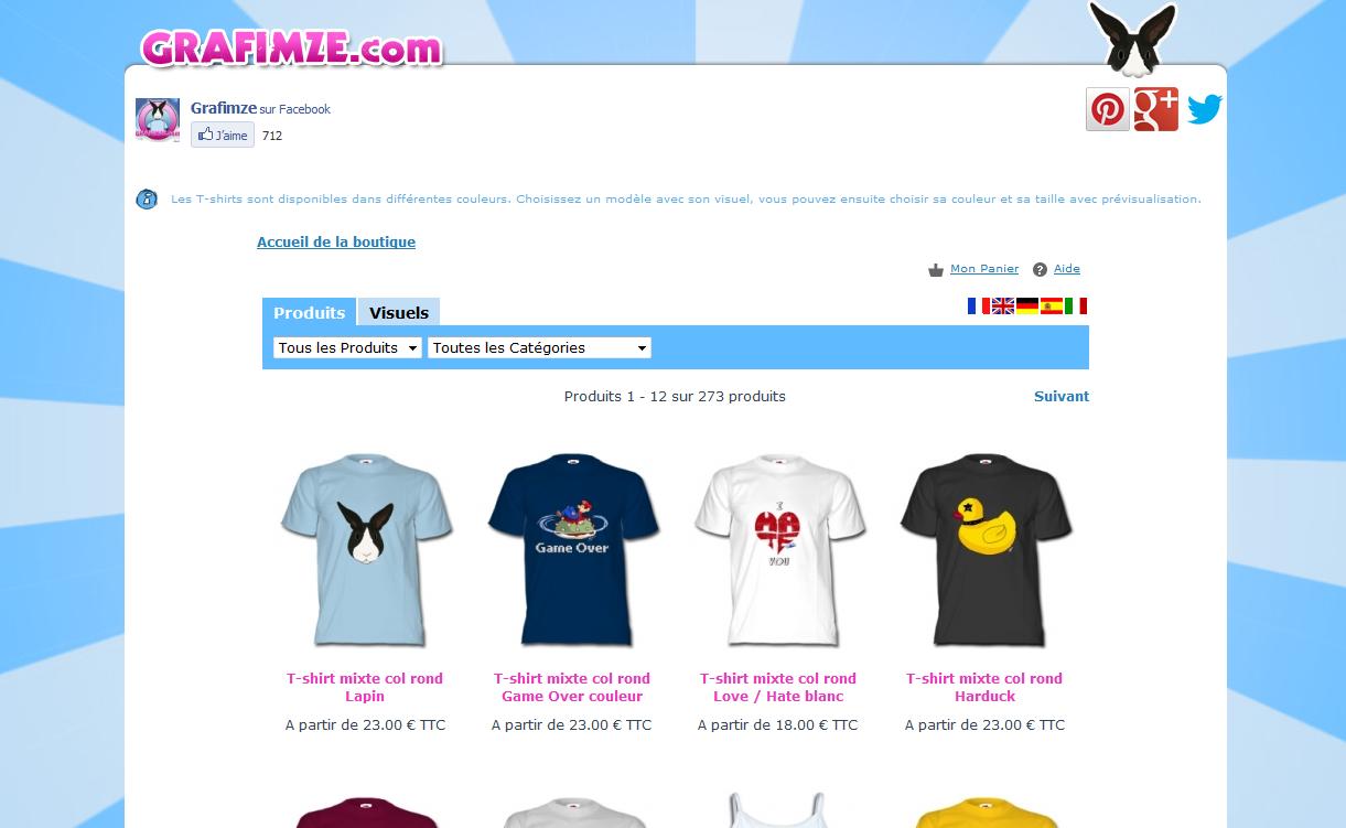 Création du site Grafimze.com 2012