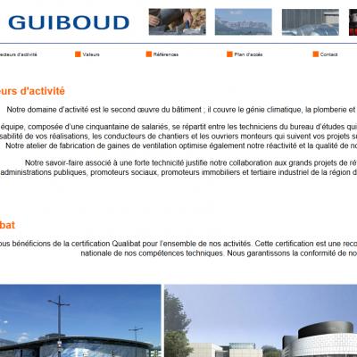 Création du site de Guiboud en 2010