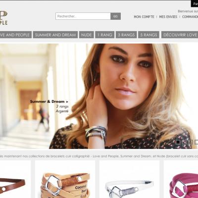 Creation de la boutique en ligne Love And People 2012